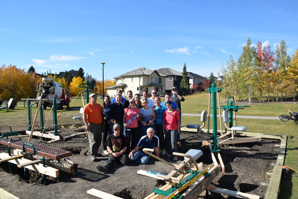 Outdoor Fitness Park and Little Library